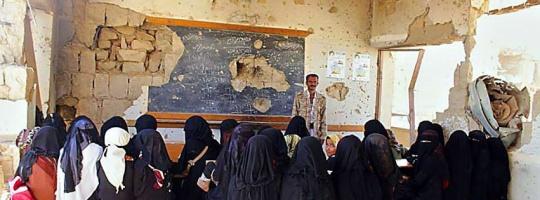 مشروع إعادة تأهيل المدارس المتضررة من الصراعات بعمران