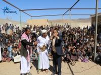 المسرح الهادف يعيد مئات الأطفال إلى مدارسهم بصعدة